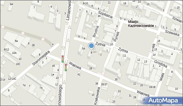 Radom, Żytnia, 5, mapa Radomia
