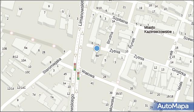 Radom, Żytnia, 5A, mapa Radomia