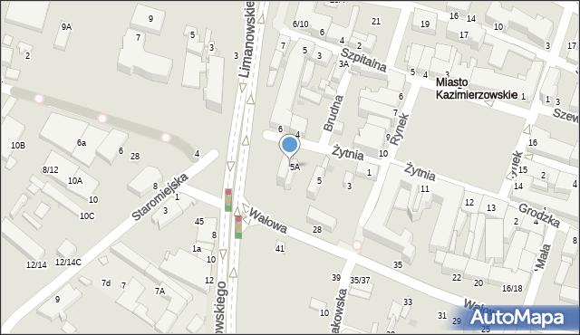 Radom, Żytnia, 7, mapa Radomia