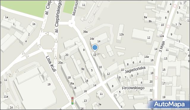 Rzeszów, Zygmuntowska, 12, mapa Rzeszów