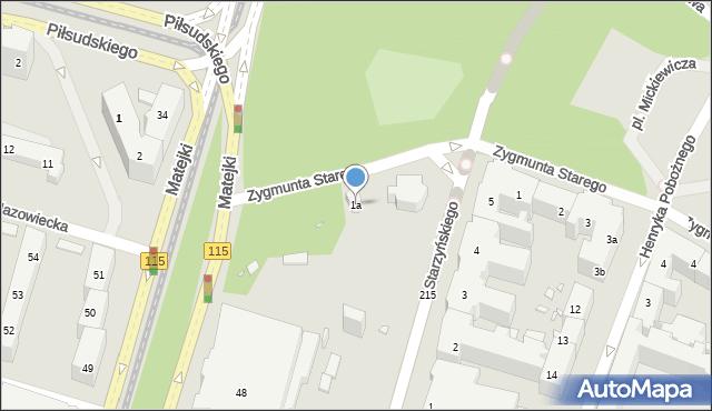 Szczecin, Zygmunta Starego, 1a, mapa Szczecina