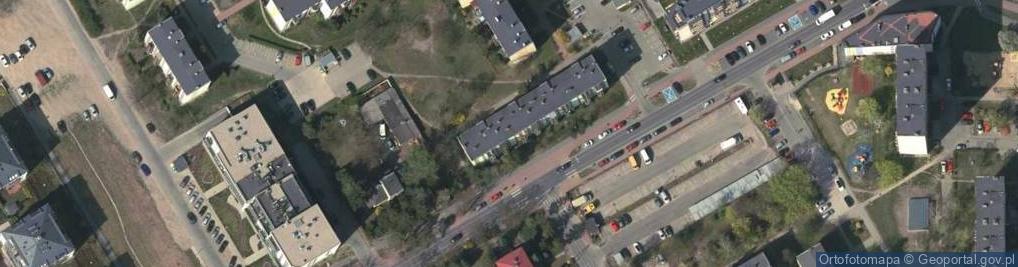 Zdjęcie satelitarne Akacjowa ul.