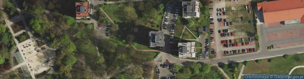 Zdjęcie satelitarne Astrów ul.