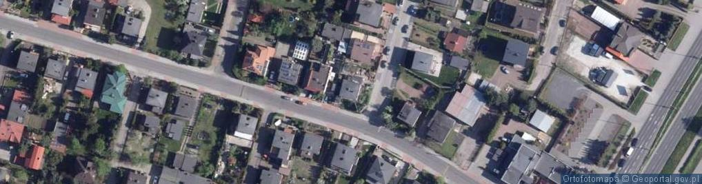 Zdjęcie satelitarne Barwna ul.