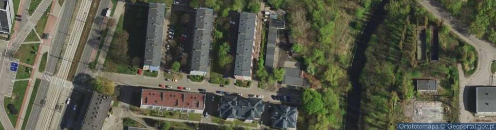 Zdjęcie satelitarne Będzińska ul.