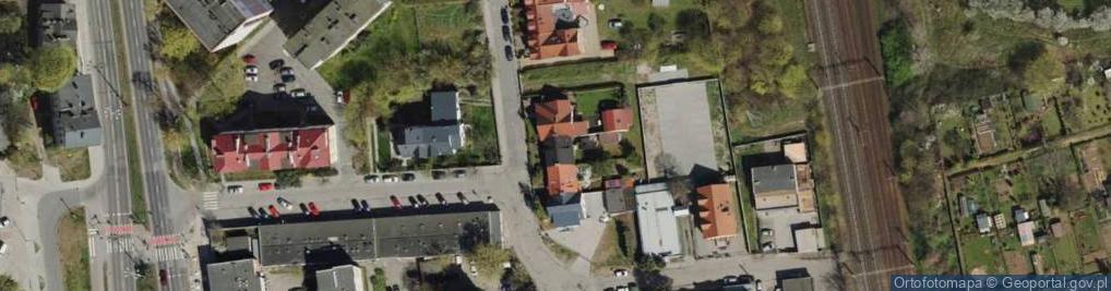 Zdjęcie satelitarne Bitwy Oliwskiej ul.