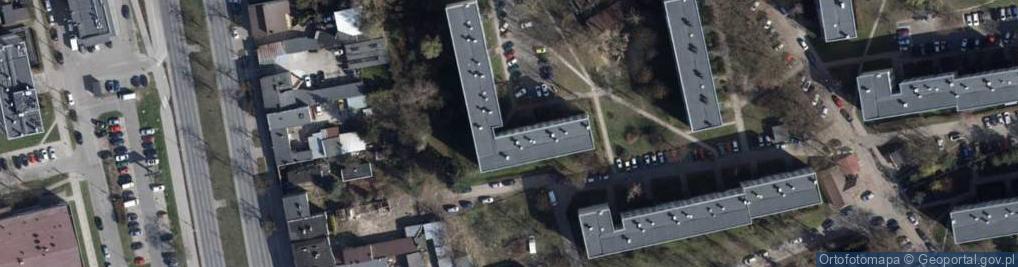 Zdjęcie satelitarne Błękitna ul.