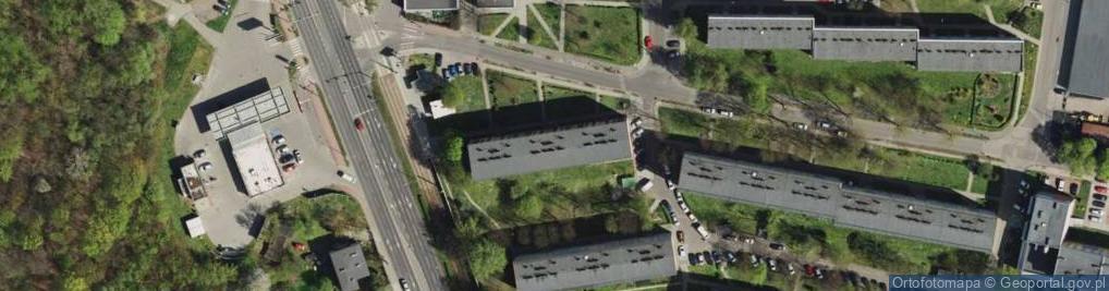 Zdjęcie satelitarne Bożka Arki ul.