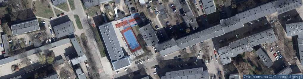 Zdjęcie satelitarne Bojowników Getta Warszawskiego ul.