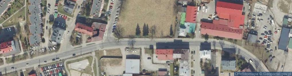 Zdjęcie satelitarne Bohaterów Getta ul.