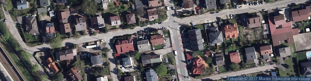 Zdjęcie satelitarne Brzozy-Brzeziny Ottokara, gen. ul.