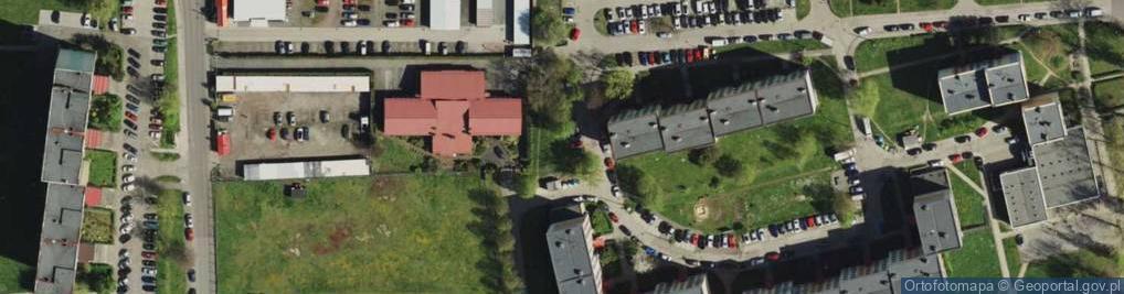 Zdjęcie satelitarne Bzów ul.