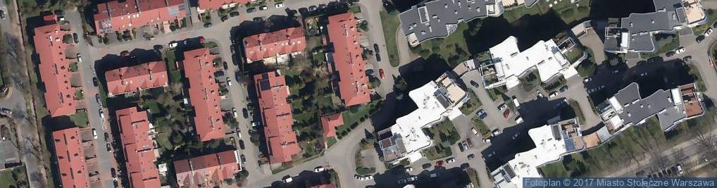 Zdjęcie satelitarne Chińskiej Róży ul.