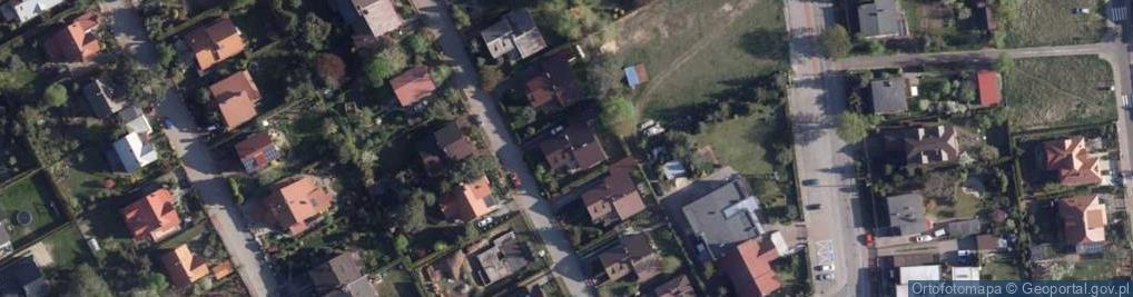 Zdjęcie satelitarne Cienista ul.
