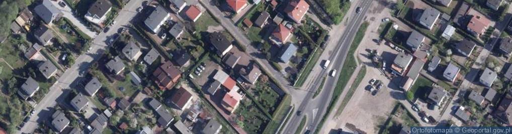 Zdjęcie satelitarne Czekoladowa ul.