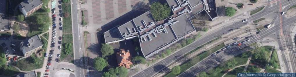 Zdjęcie satelitarne Czerwona Droga ul.