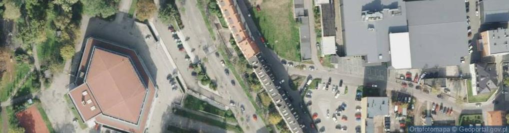Zdjęcie satelitarne de Gaulle'a Charlesa, gen. ul.