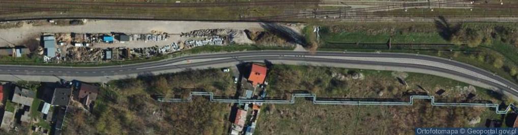 Zdjęcie satelitarne Droga Łąkowa ul.