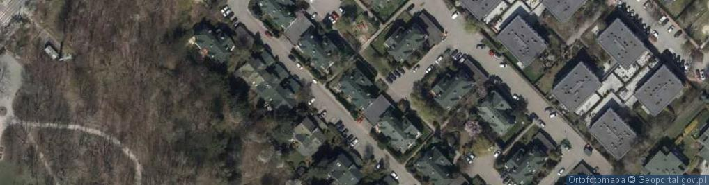 Zdjęcie satelitarne Dzikiej Róży ul.