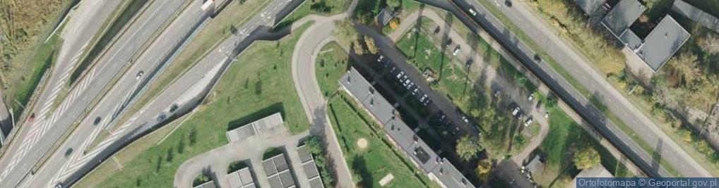 Zdjęcie satelitarne Dzierżona Jana, ks. ul.