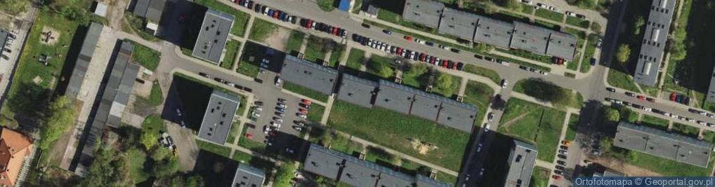 Zdjęcie satelitarne Działaczy Rodła ul.