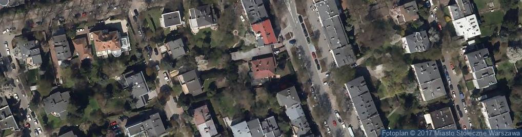 Zdjęcie satelitarne Francuska ul.