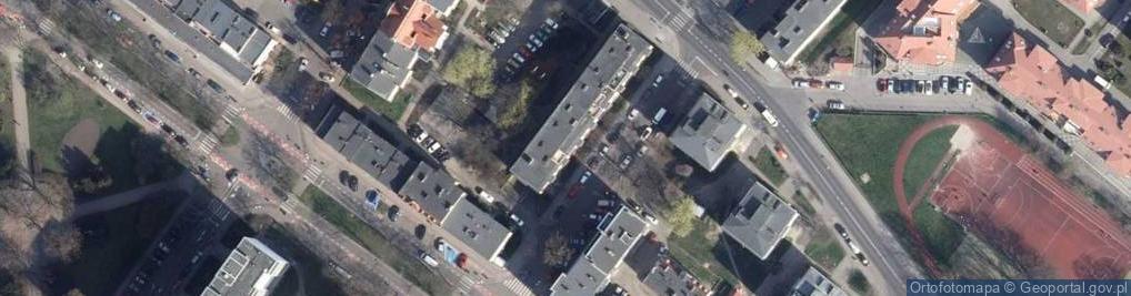 Zdjęcie satelitarne Giełdowa ul.