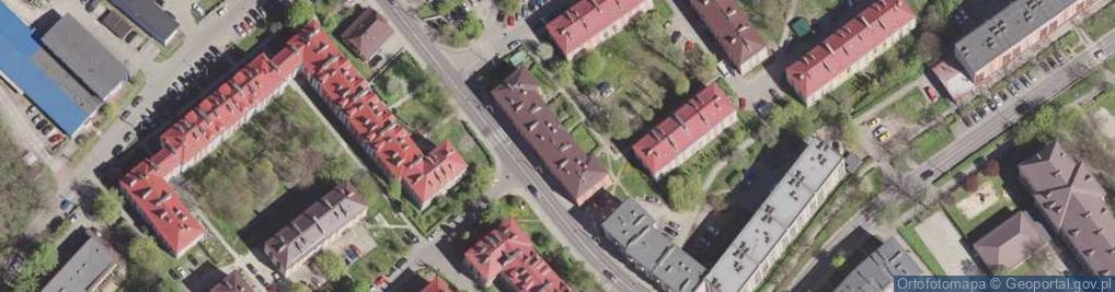 Zdjęcie satelitarne Gwarków ul.