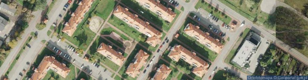Zdjęcie satelitarne Hauptmana Andrzeja, ks. ul.
