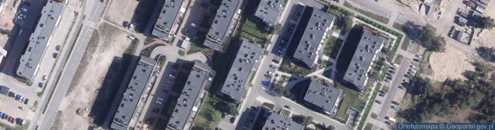 Zdjęcie satelitarne Hubego Jana Michała ul.