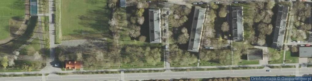 Zdjęcie satelitarne I Pułku Szwoleżerów ul.