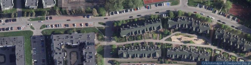 Zdjęcie satelitarne Iwanowskiej Wilhelminy ul.