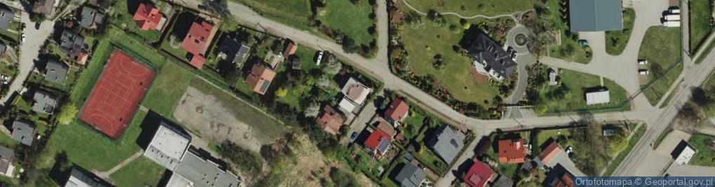 Zdjęcie satelitarne Jordana Henryka, dr. ul.