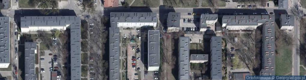 Zdjęcie satelitarne Komunardów ul.