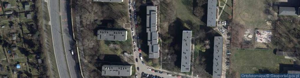 Zdjęcie satelitarne Komfortowa ul.