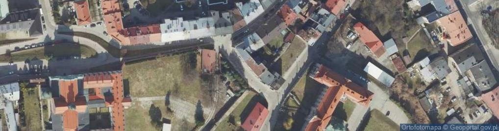 Zdjęcie satelitarne Komisji Edukacji Narodowej ul.