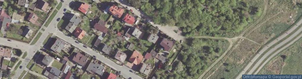 Zdjęcie satelitarne Kostki Napierskiego Aleksandra ul.