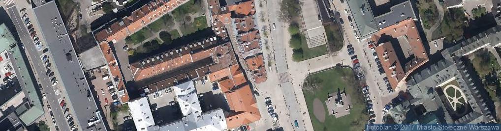 Zdjęcie satelitarne Kozia ul.