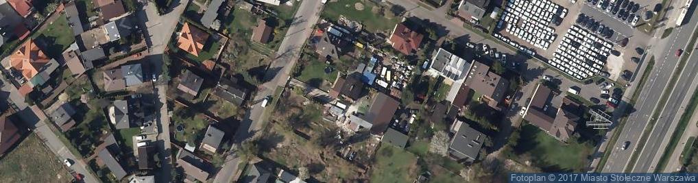 Zdjęcie satelitarne Kolejarska ul.