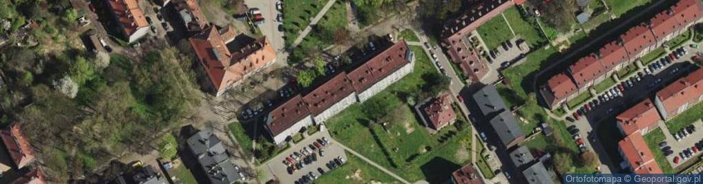 Zdjęcie satelitarne Kossaka Wojciecha ul.
