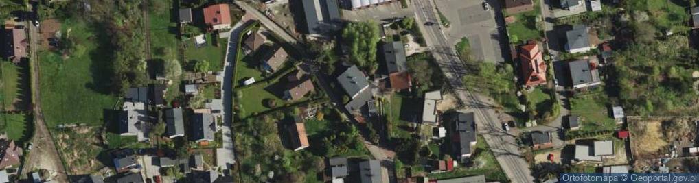 Zdjęcie satelitarne Krzywa ul.
