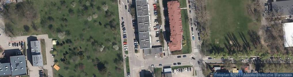 Zdjęcie satelitarne Krzyżanowskiego Seweryna ul.