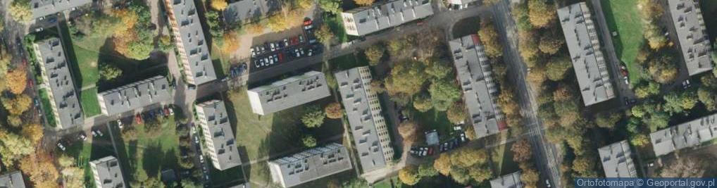 Zdjęcie satelitarne Krzywoń Anieli ul.