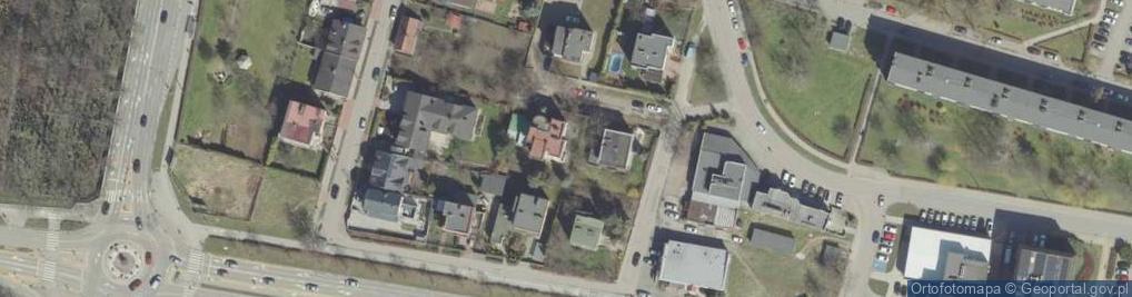 Zdjęcie satelitarne Księżycowa ul.