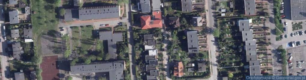 Zdjęcie satelitarne Kwitnącej Jabłoni ul.