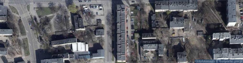 Zdjęcie satelitarne Łagiewnicka ul.
