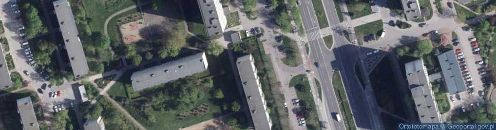 Zdjęcie satelitarne Ligi Polskiej ul.