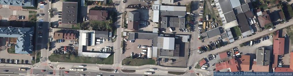 Zdjęcie satelitarne Łodygowa ul.