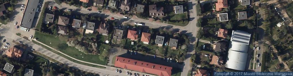 Zdjęcie satelitarne Malachitowa ul.