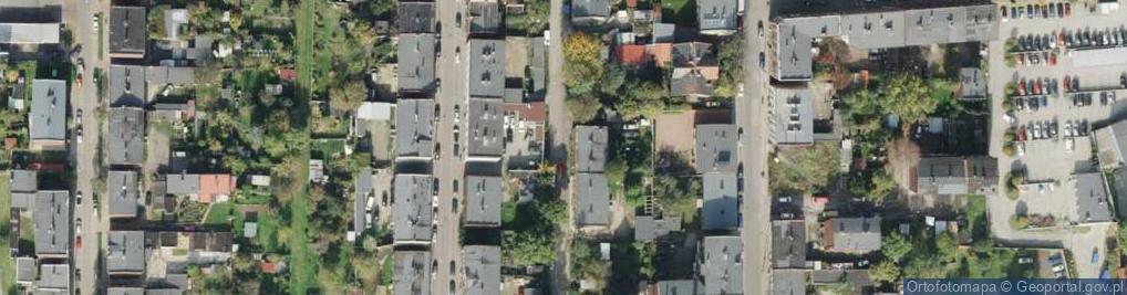 Zdjęcie satelitarne Męczenników Majdanka ul.